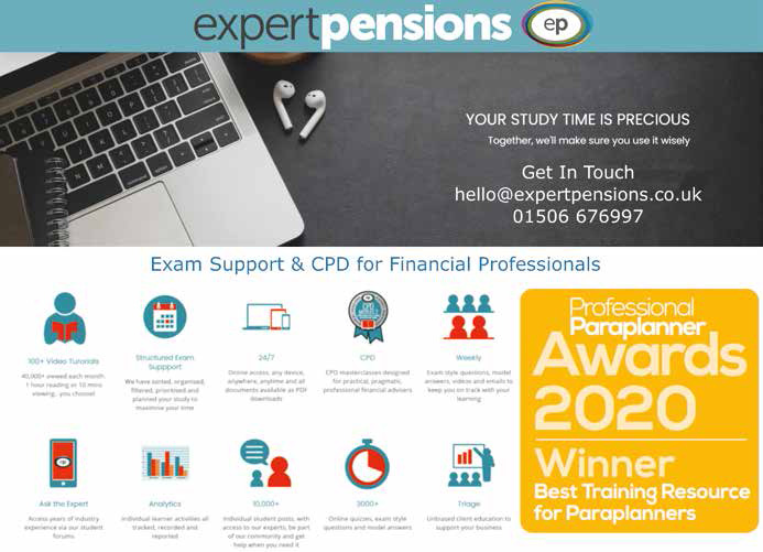 Use Expert Pensions to support you through your CII exams