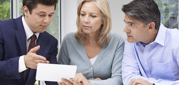 Couple seeking out value for money in pensions
